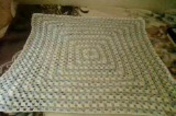 Giant Granny Square Baby Blanket