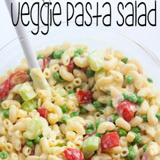 Low Fat Pasta Salad with Vegetables.