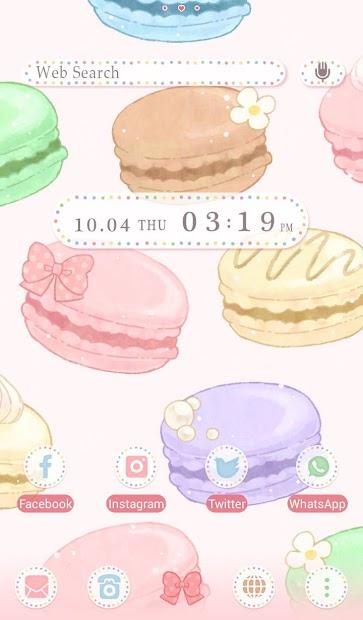 Sweets Wallpaper Cute Macaroons Theme Android App Screenshot