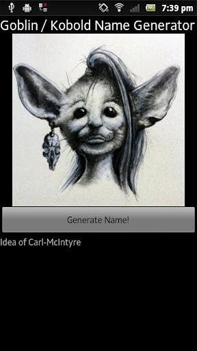 Goblin Name Generator