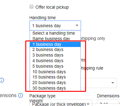 Is Ebay Pushing Sellers To Offer 1 Day Handling