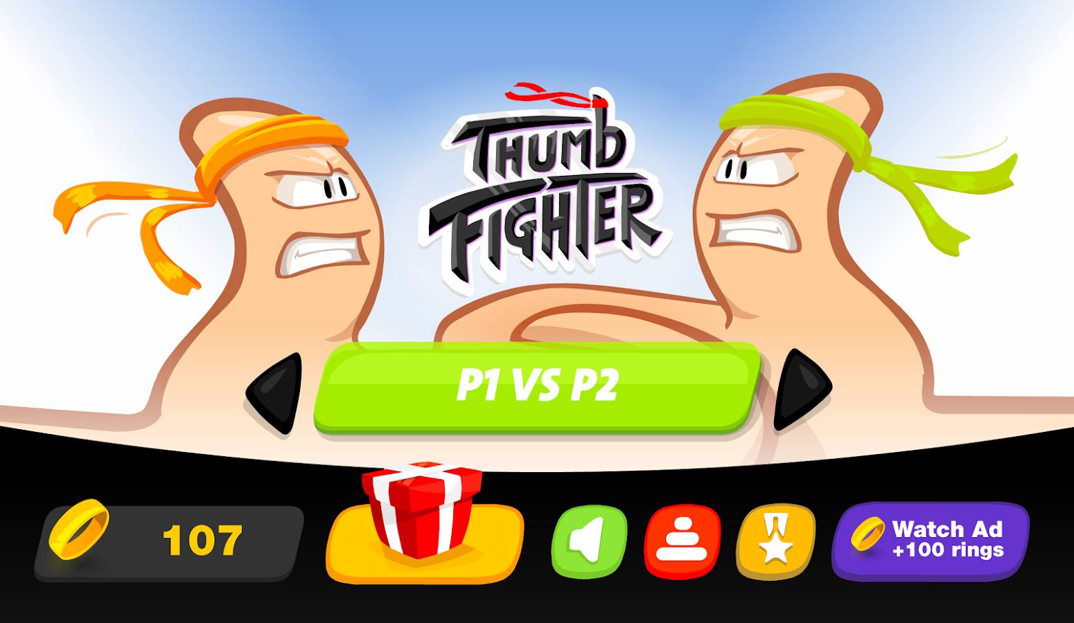 Thumb Fighter- screenshot