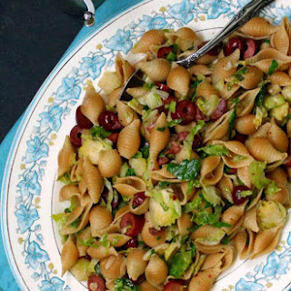 Speedy Brussels Sprouts Pasta with Olives.