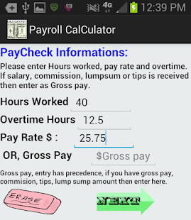 accurate pay calculator noad apps on google play