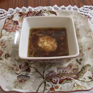 Caramelized Leek and Mushroom Soup.