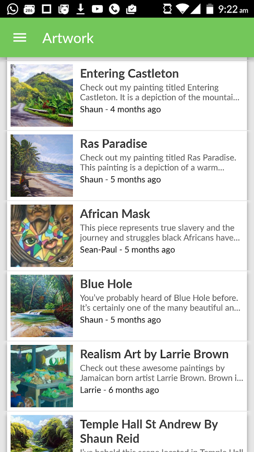 The Jamaican Blogs- screenshot