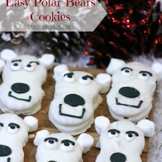 Quick, Easy & Super Cute Polar Bear Cookies!