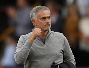 Manchester United manager Jose Mourinho celebrates after the Premier League match against Burnley at Turf Moor on September 2, 2018.