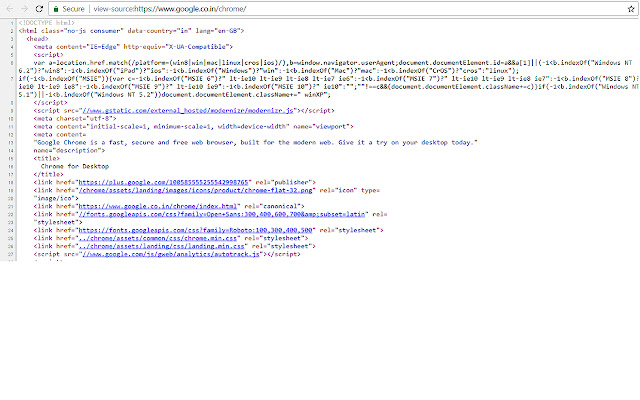 View HTML Source