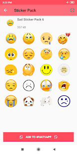 Sad Stickers for Whatsapp - Sad WAStickerApps Screenshot