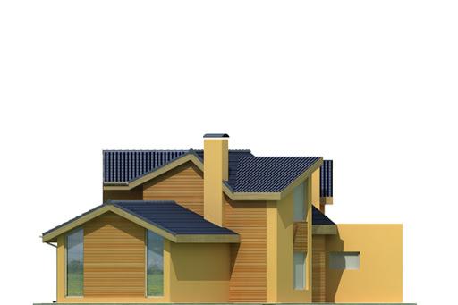 Bursztyn wersja A z pojedynczym garażem - Elewacja tylna
