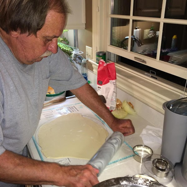 Last year Dad & I making pierogies at my house. I think we ended...