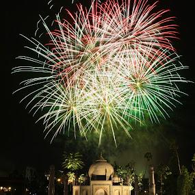 Legoland Taj Mahal Fireworks by ChenLin Kng - City,  Street & Park  Amusement Parks ( firework, taj mahal, fireworks, legoland, lego )