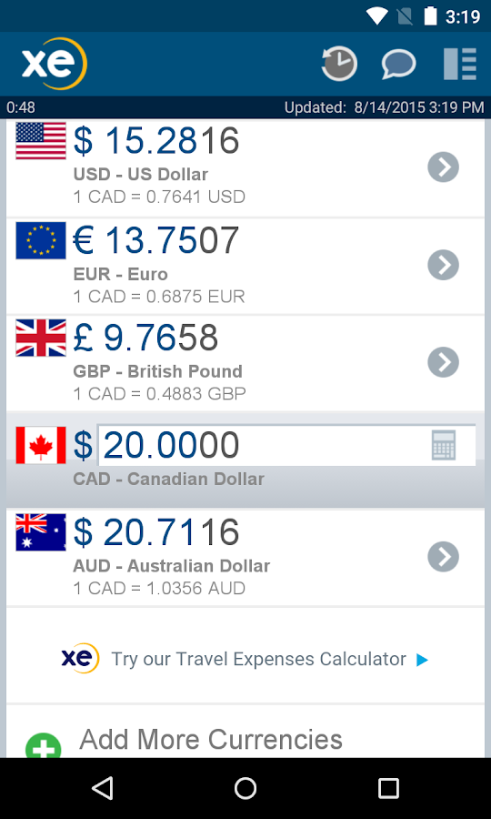 XE Currency Pro - Android Apps on Google Play