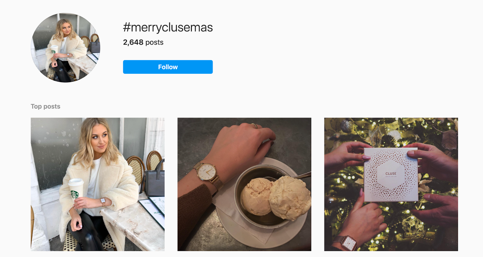 instagram holiday hashtag example