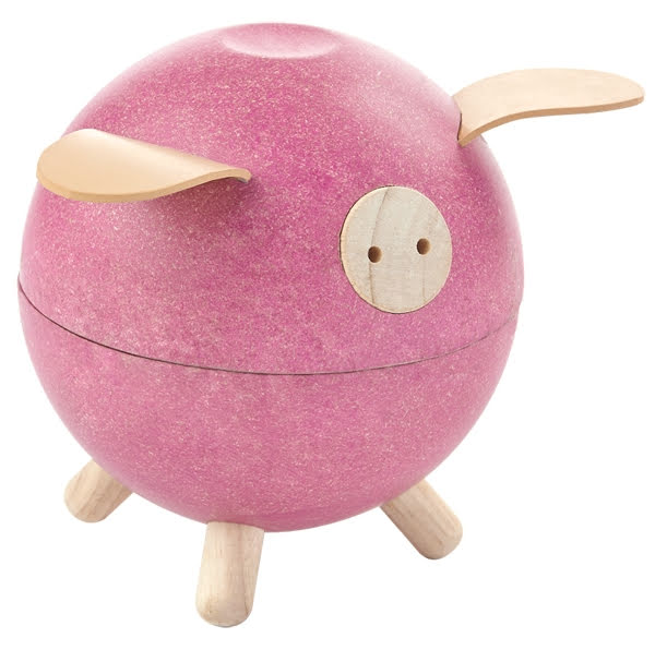 PlanToys piggy bank pink Spargris