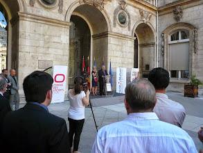 Photo: discours de Marc Feuillet, président de l'office des sports de Lyon