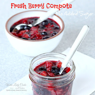 Fresh Berry Fruit Compote No Added Sugar.
