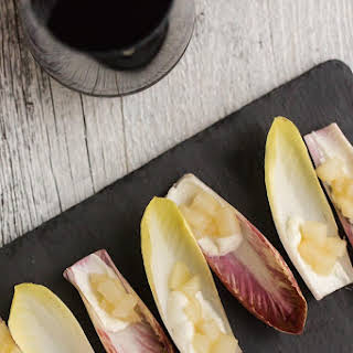 Ginger Pear and Goat Cheese Endive Appetizer.