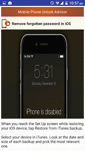 Clear Mobile Password PIN Help  screenshots 8