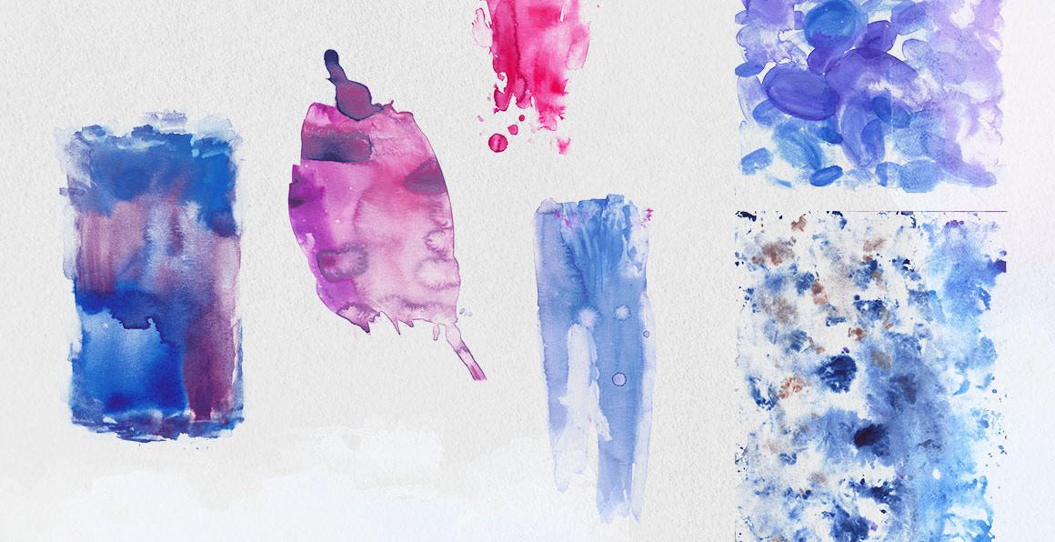 purple watercolor textures