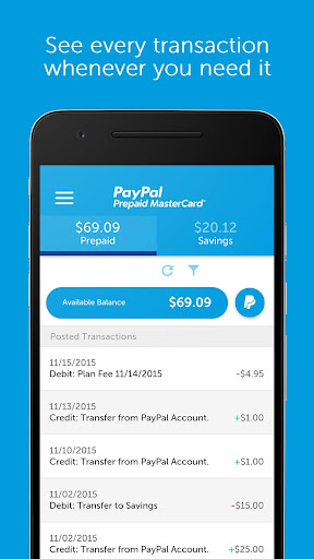 Paypal prepaid instant transfer / Quote for growth