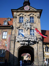 Photo: Bamberg. Voormalig stadhuis op de brug