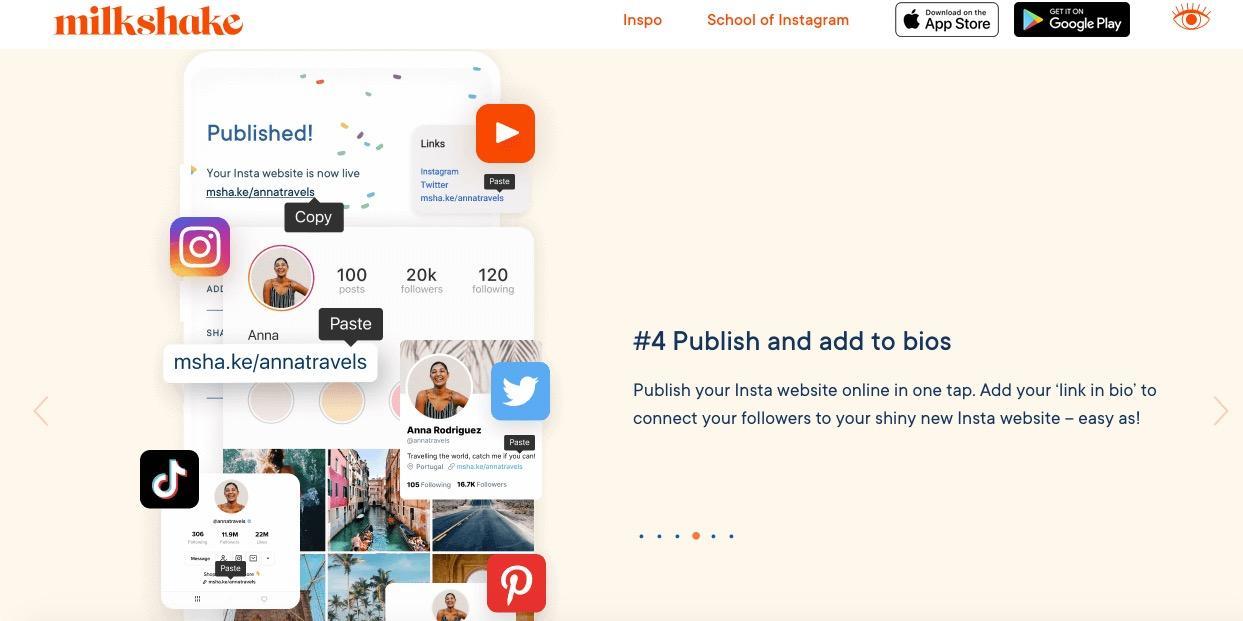 link in bio tool Instagram
