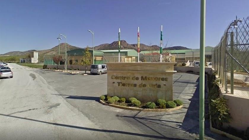 Exterior del Centro de Menores \'Tierras de Oria\'.