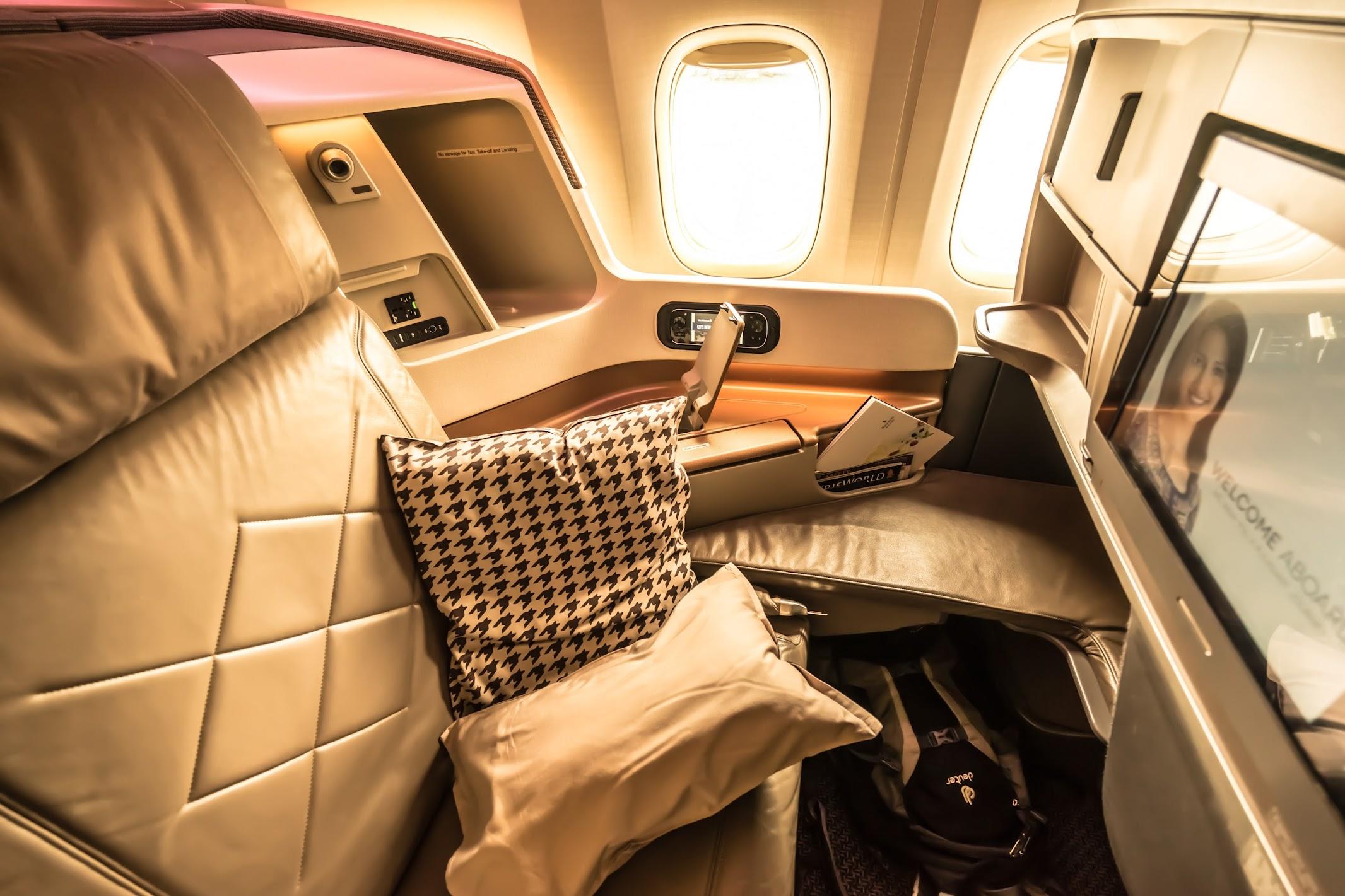 シンガポール航空 777-300ER ビジネスクラス1
