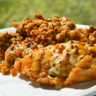 Slow Cooker Cheesy Stuffing Chicken.