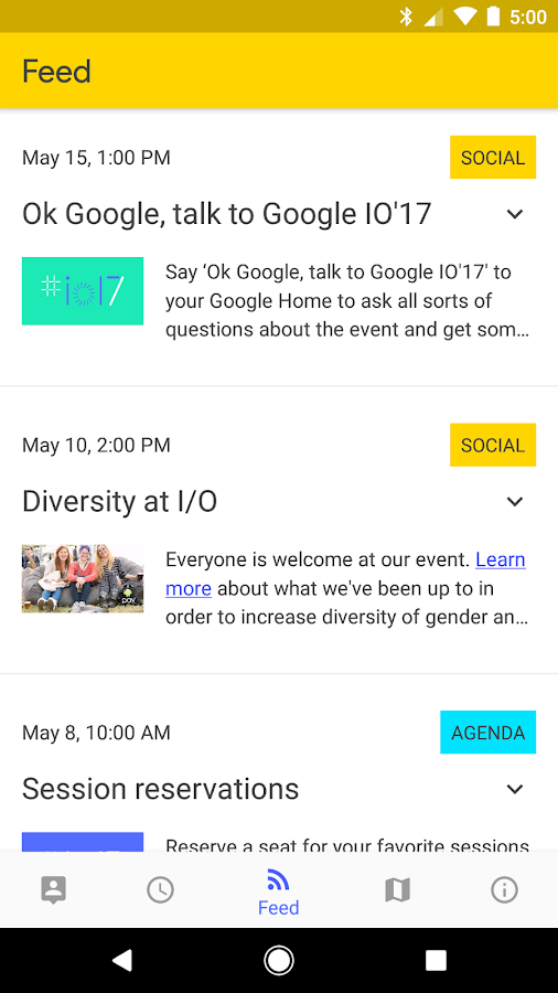 Google I/O 2017- screenshot