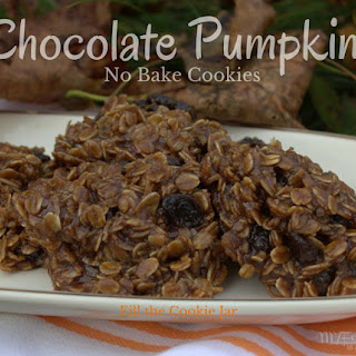 No Bake Chocolate and Pumpkin Cookies