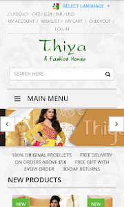 thiya.in - Exclusive Sarees screenshot 1