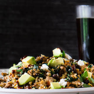 Mexican Fried Rice With Chaya and Ground Pork.