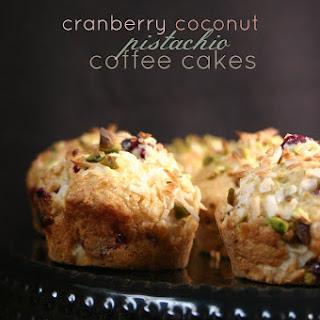 Cranberry Coconut Pistachio Coffee Cakes