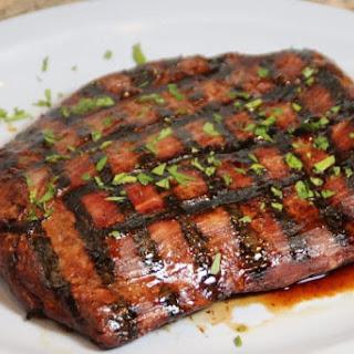 Teriyaki Marinated Flank Steak.
