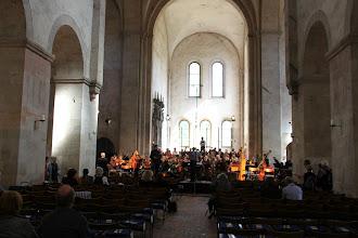 Photo: Kloster Eberbach - Her øver de til til koncert senere på dagen og vi hørte synge!
