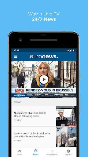 Euronews: Daily breaking world news & Live TV 5.1 screenshots 2