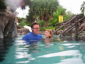 Photo: Enjoying the hot tub at Los Lagos