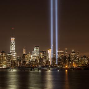 9-11 Tribute Lights by Werner Ennesser - Uncategorized All Uncategorized ( 9-11 tribute lights, #GARYFONGDRAMATICLIGHT, #WTFBOBDAVIS,  )