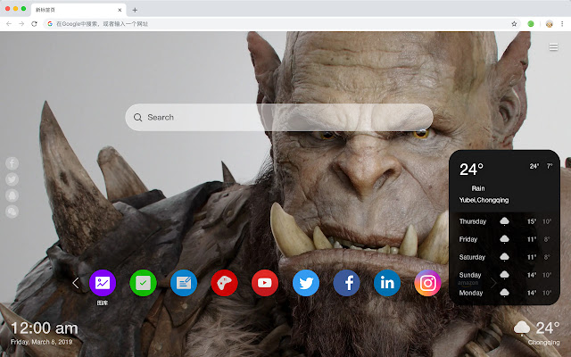 Warcraft Popular Movies New Tabs HD Themes
