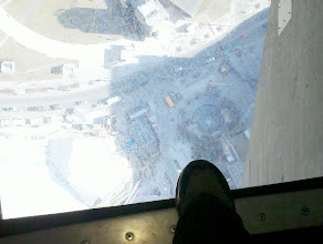 Photo: Glass floor at the CN Tower. I'm 1800 feet up!
