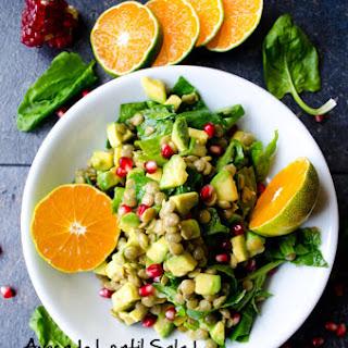 Avocado Lentil Salad.