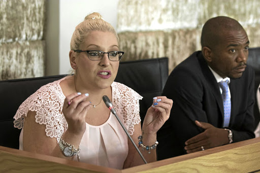 Natasha Mazzone with DA leader Mmusi Maimane. File photo.