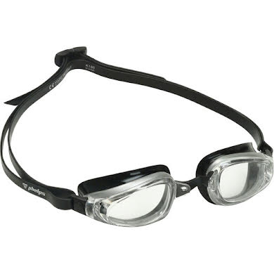 Michael Phelps K180 Goggles - Silver/Black with Clear Lens