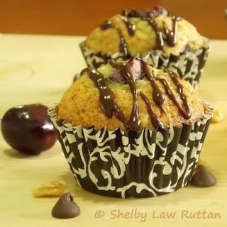 Banana Cherry Nut Muffins