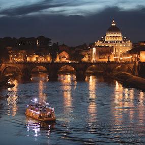 Vatican by Mark Richardson - Buildings & Architecture Public & Historical ( st peters, rome, vatican, bridge, italy, river )