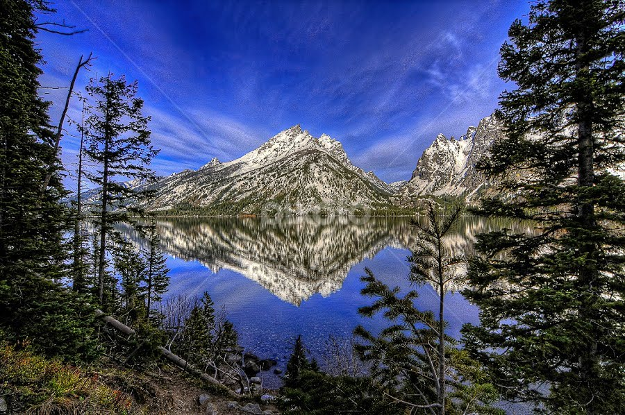 Jenny lake, Grand Teton national park, Wyoming by Benoit Beauchamp - Landscapes Travel