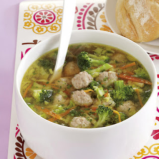 Spring Vegetable and Meatball Soup